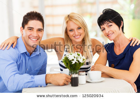 stock-photo-happy-young-man-with-wife-and-mother-in-law-in-cafe-125020934